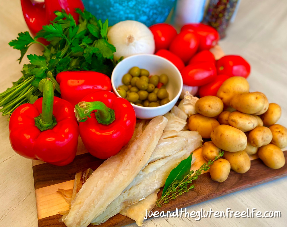 Discover one of Spain's most loved and traditional dishes made with salted codfish, olives, vegetables, and herbs.