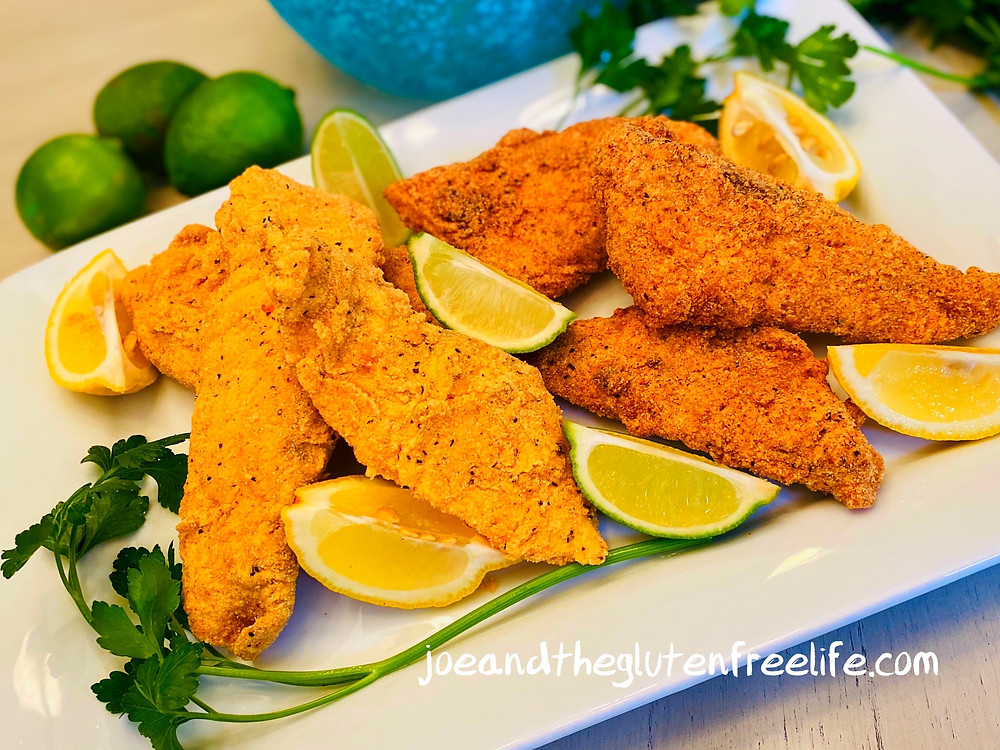 Crispy golden Catfish and Tilapia fillets fried to perfection and 100% gluten free!