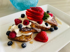 Gluten Free French Toast with Cream and Fresh Berries