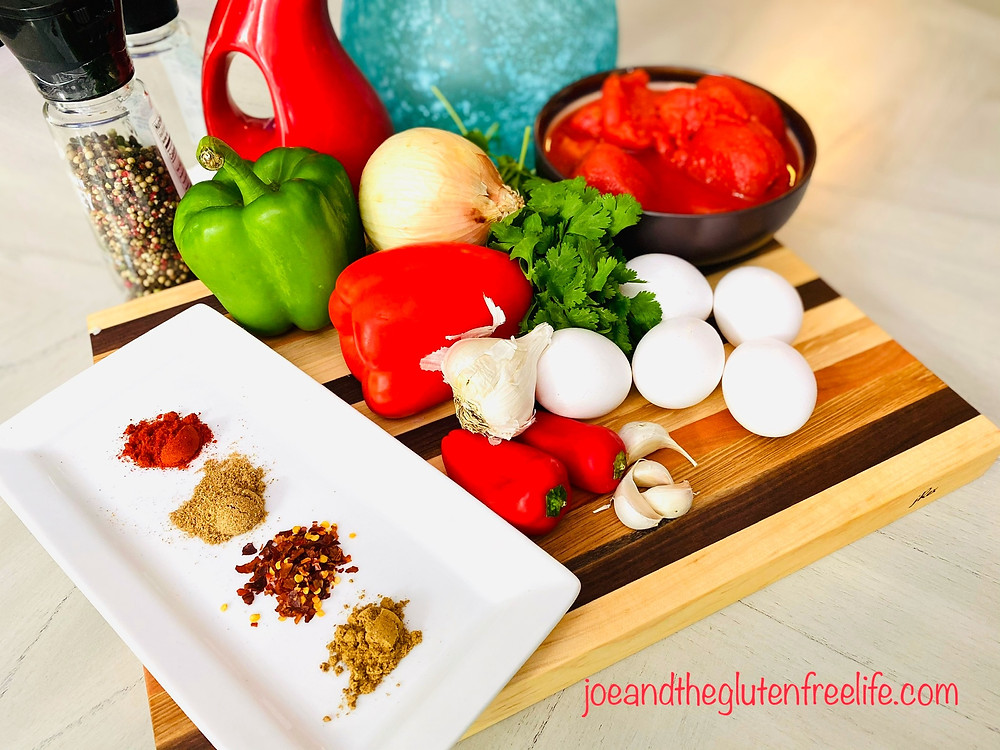 Learn how to make this delicious Middle Eastern poached eggs and tomatoes dish!