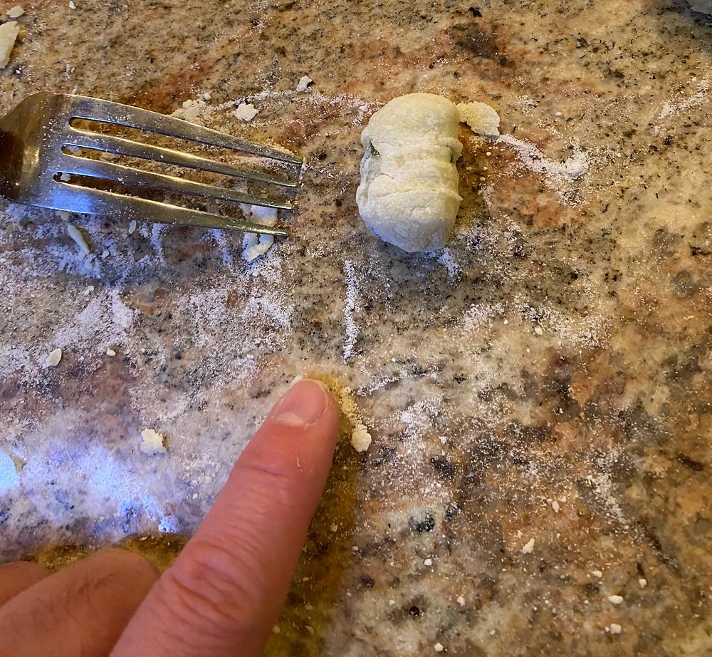 Rolled gnocchi.