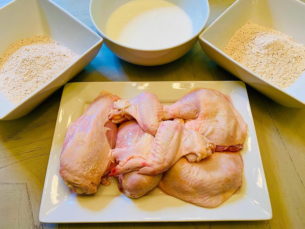 Break the chicken ...