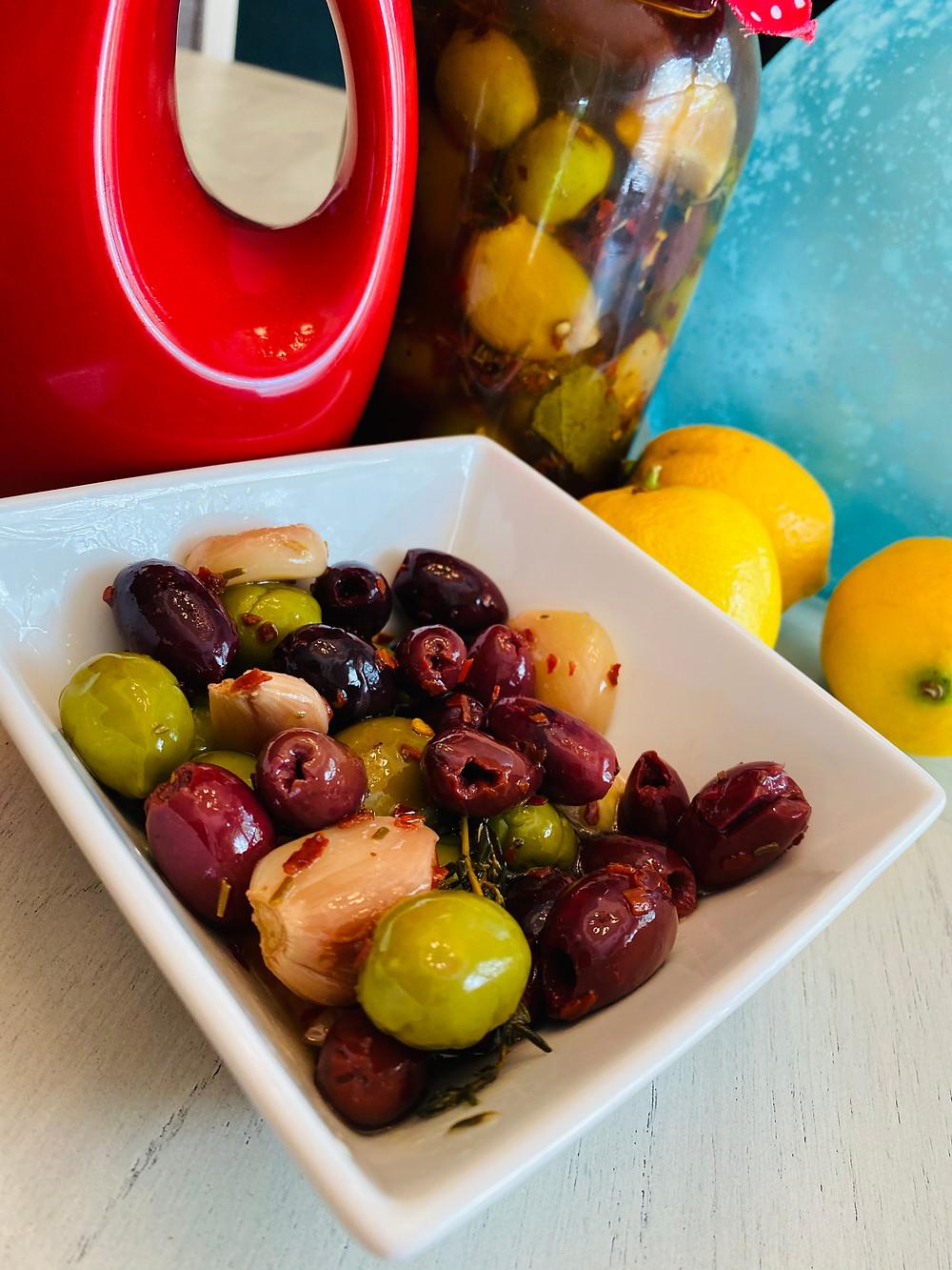 Mediterranean Spicy Olives