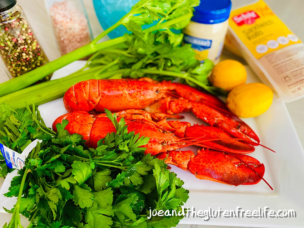 Easy to make gluten free spicy lobster roll!