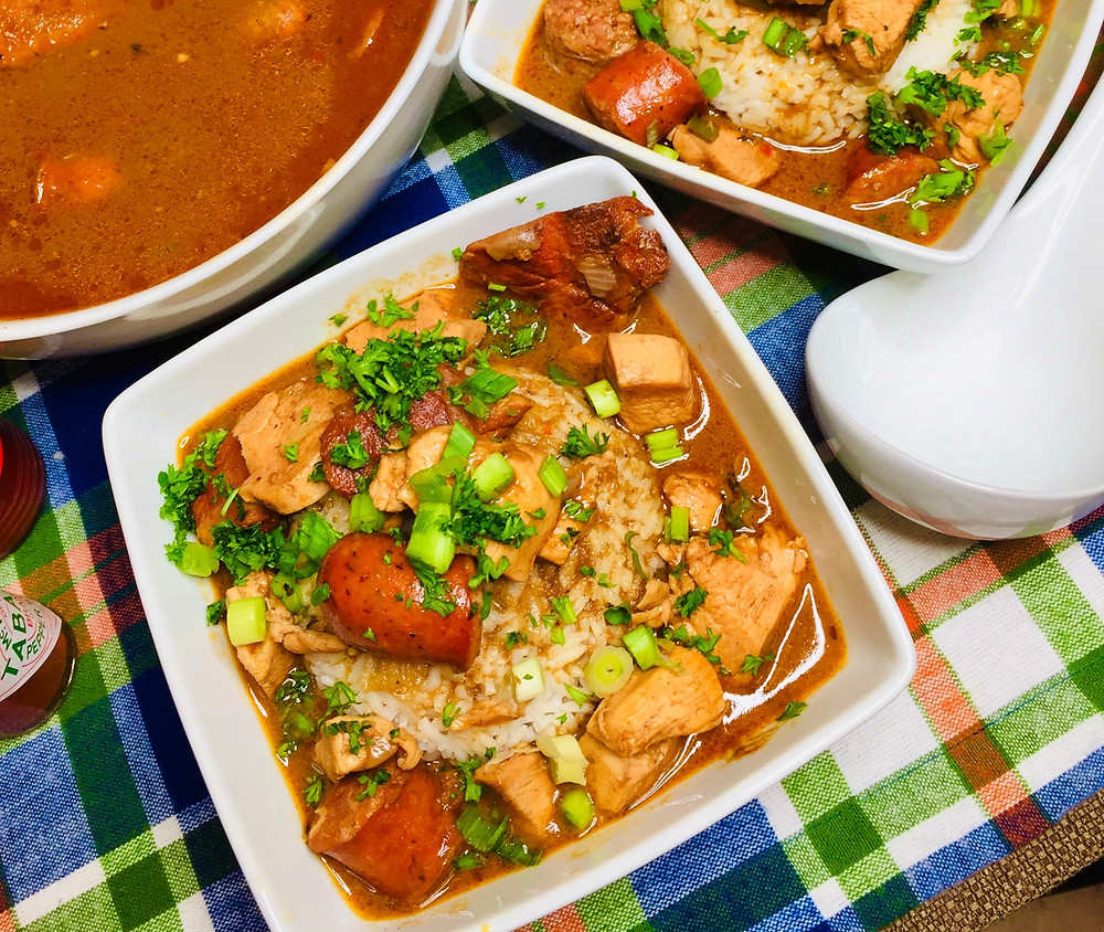 Learn how to make this traditional New Orleans' favorite packed with chicken, andouille and Tasso!