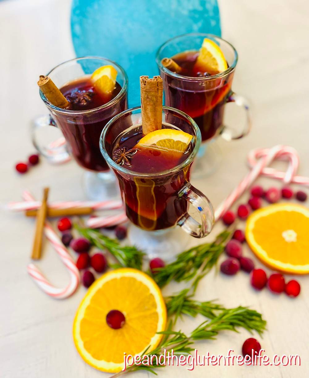 Sweet Red Wine with Apple Cider, aromatics, and Spices: The perfect libation for your Holiday Celebrations!