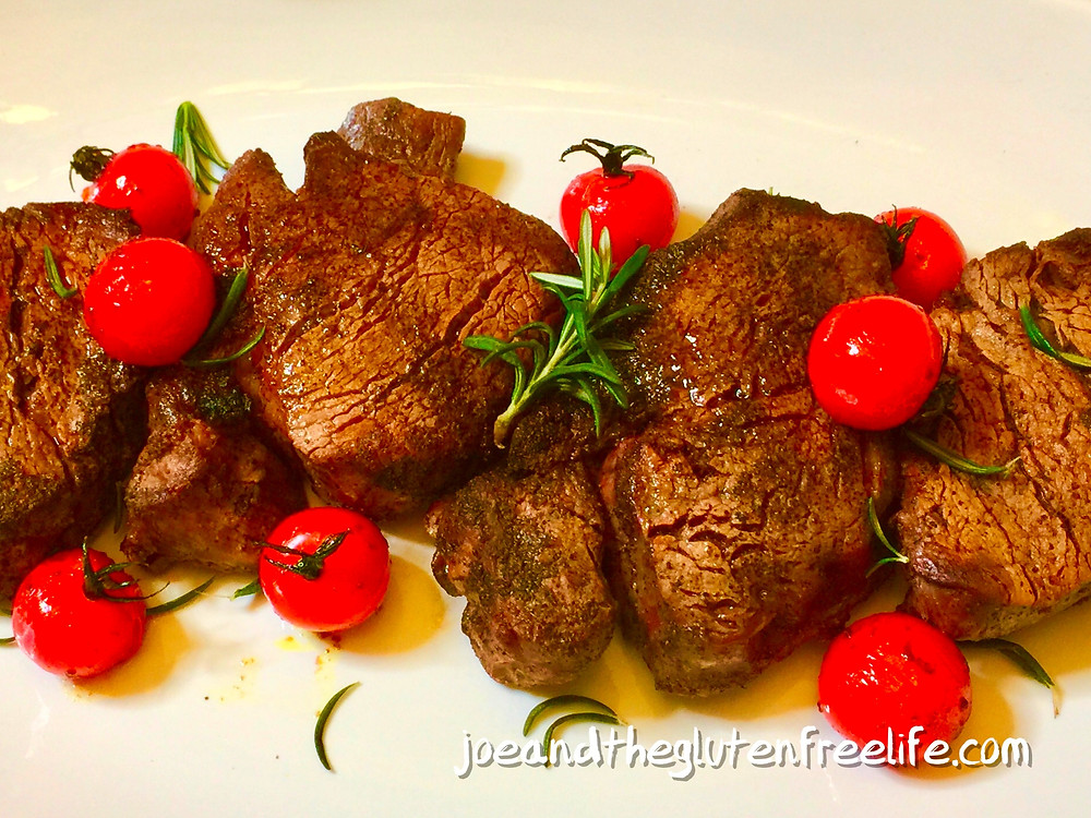 This delicious and easy to make filet mignon with roasted ripe Vine Tomatoes and Rosemary  is ready in less than 20 minutes!