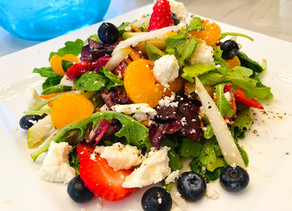 Gluten Free Pear Salad with Fresh Berries and Baby Greens