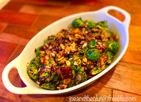 Brussels Sprouts with Balsamic Glaze & Prosciutto