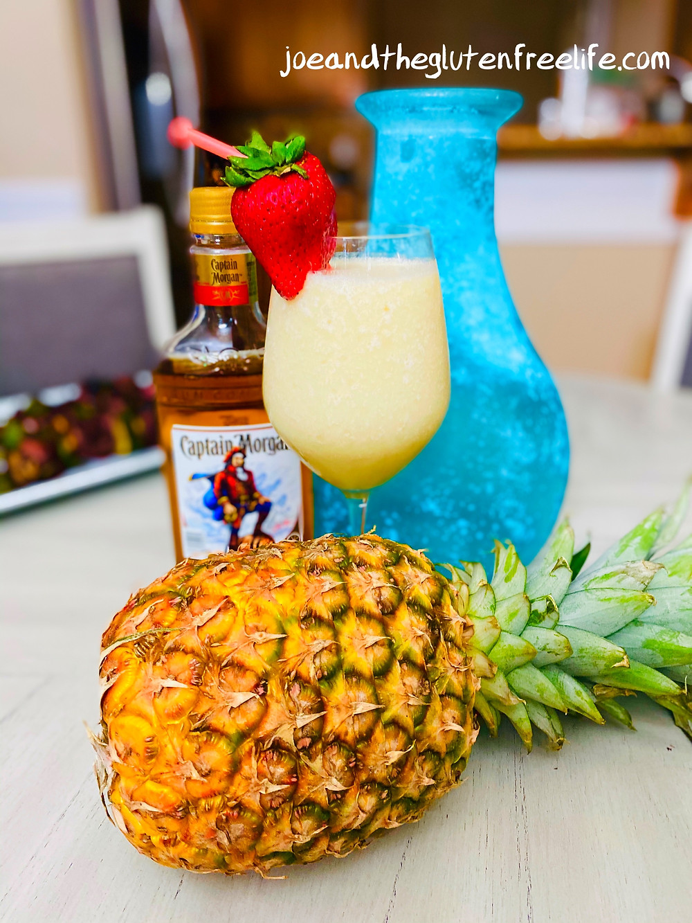 Easy to make refreshing Piña Colada made with Captain Morgan Spiced Rum.