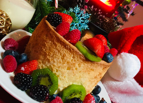 Easy Eggnog Angel Food Cake with Assorted Berries