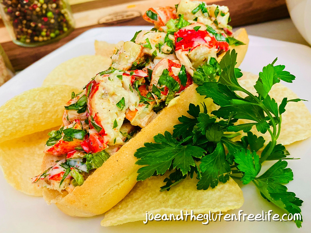 Easy to make gluten free lobster roll with a kick!