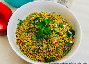 Easy Lentils & Mint Salad