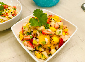 Gluten Free Mango Strawberry Salsa