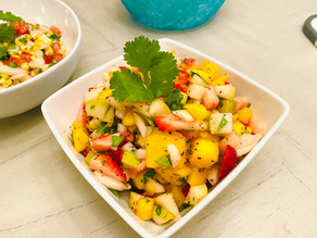 Gluten Free Mango Strawberry Salsa