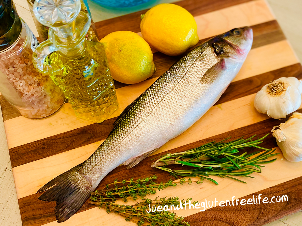 Easy to make salt encrusted Branzino with herbs and spices.