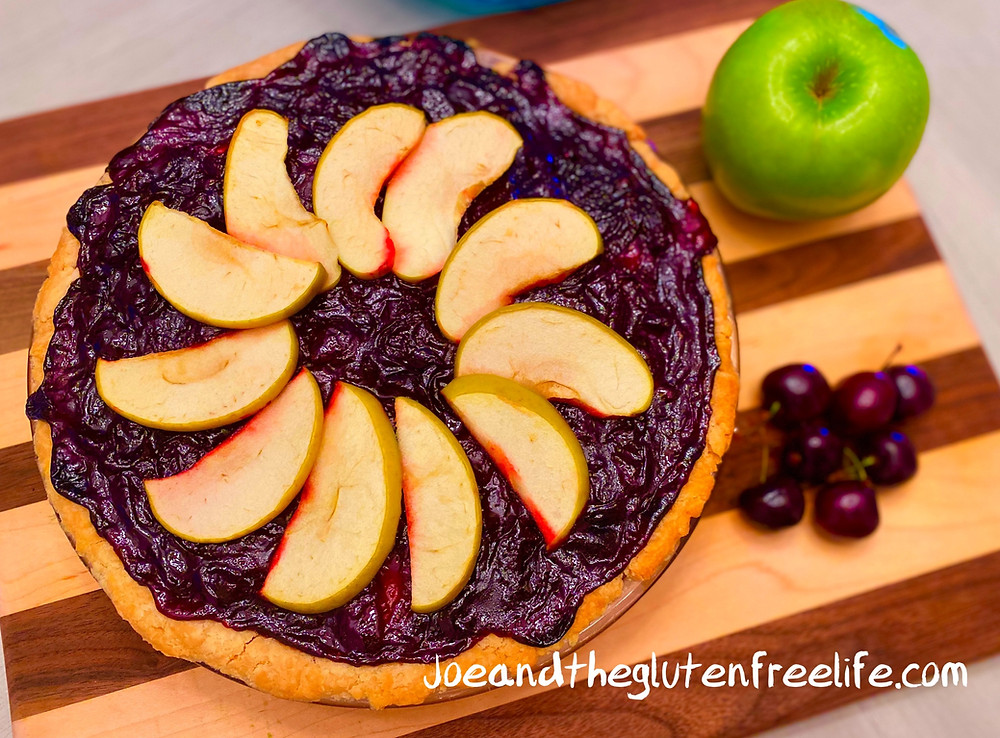 Easy to make gluten free pie loaded with a delicious cherry and apple filling!