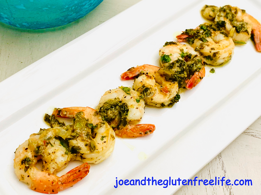 A delicious easy to make and quick shrimp dish with lime, garlic, and cilantro!