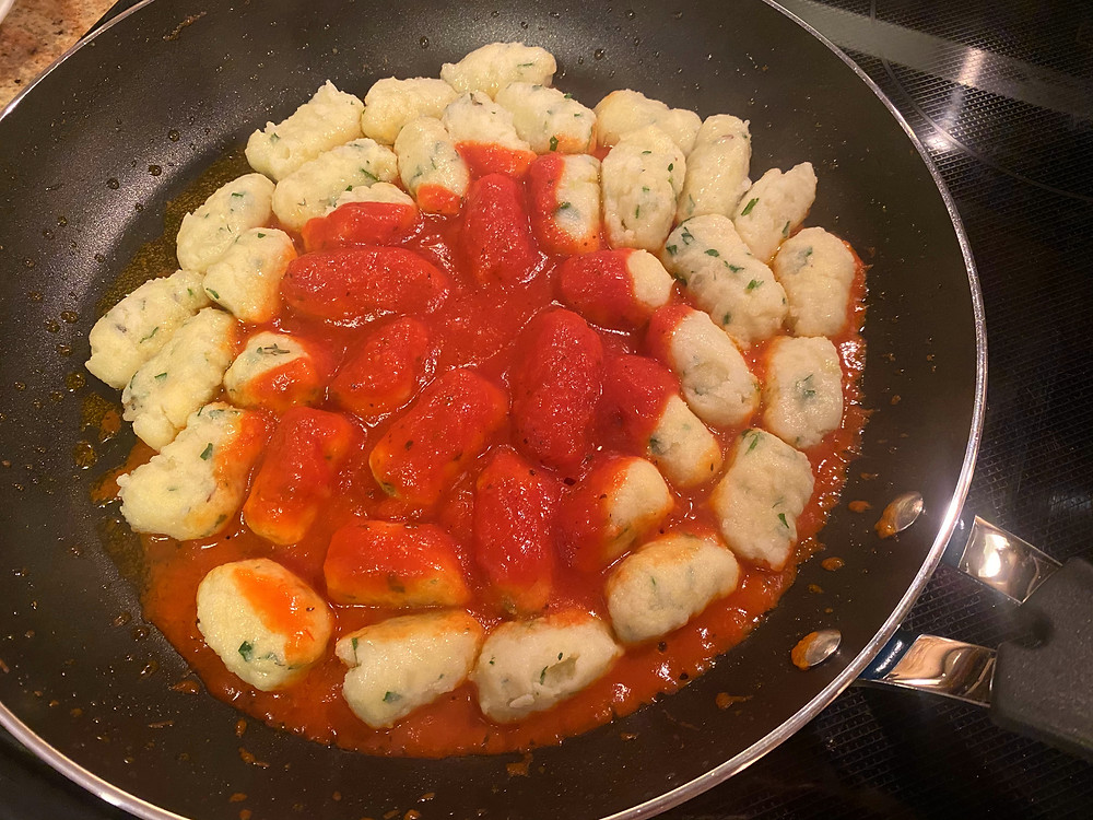 Add your favorite pasta sauce.