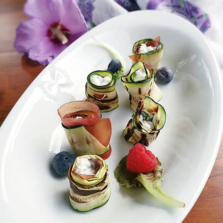 Rotolini di Zucchine Grigliate, Bresaola e Fiocchi di Latte