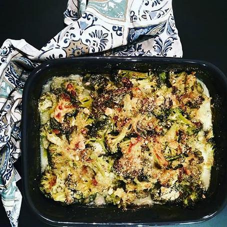 Broccoli Gratin in besciamella alla curcuma