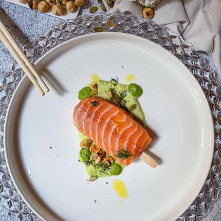 Finto Ghiacciolo di Sashimi di Salmone