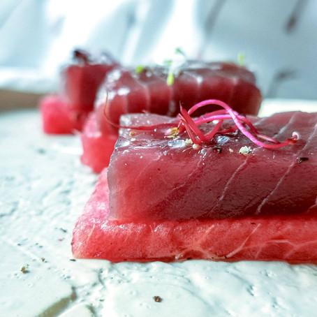 Cruditè di Tonno Rosso e Anguria al Wasabi