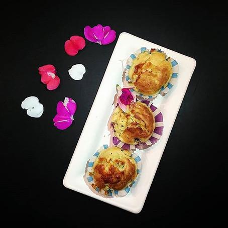 Muffin Salati: Zucchine, Caciocavallo & Speck