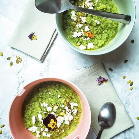 Gazpacho Verde: Zucchine e Basilico