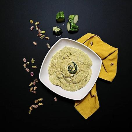Hummus Zucchine,Basilico & Pistacchi