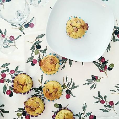 Muffin Zucchine, Salame Piccante e Provolone