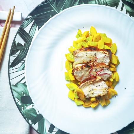 Petto di pollo marinato al Mirtillo
