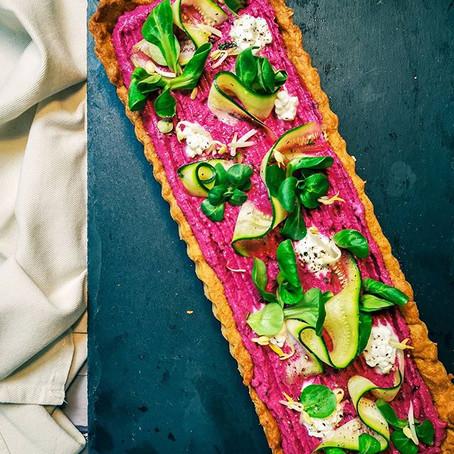 Crostata salata alla Barbabietola