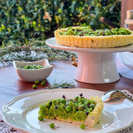Crostata salata di Miglio ed Hummus di Piselli