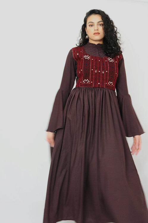 Plum Kuchi Waistcoat Style Dress