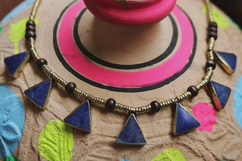 Lapis Lazuli Triangle Drop Necklace