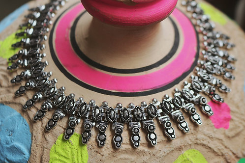 Abstract Design Spiked Necklaces