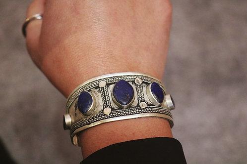 Lapis Lazuli Stone Cuff