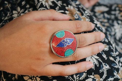 Large Round Nepali Ring