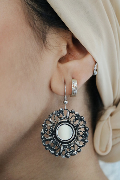 Round Mirror Earrings