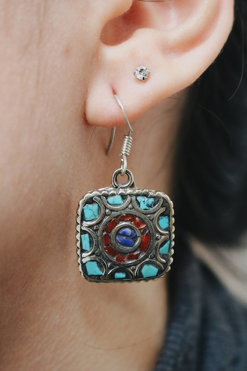 Nepali Square Earrings