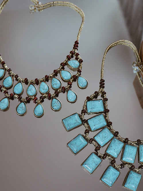 Turquoise Double Layer Necklaces