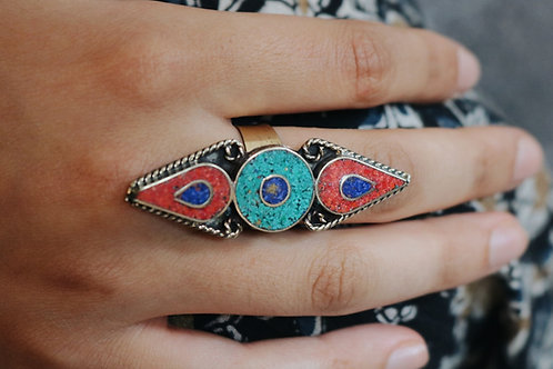 Circle and Drop Shape Nepali Rings
