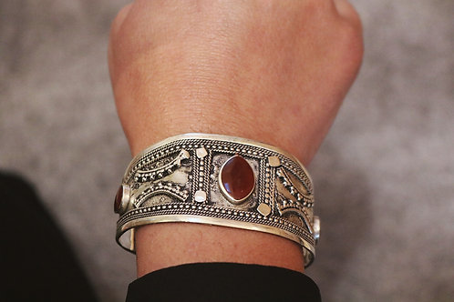 Assorted Stone Cuffs (Black, Brown & Turquoise)