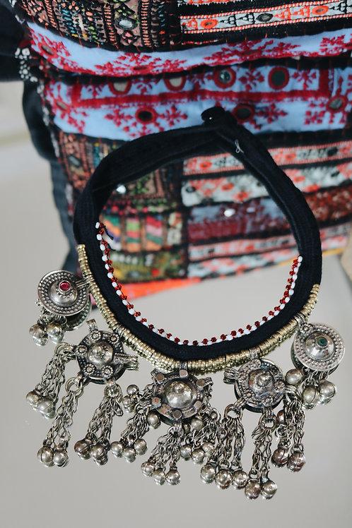 Antique Kuchi Statement Disc Necklace