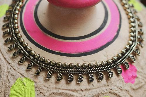 Lotus Flower Bronze Necklace