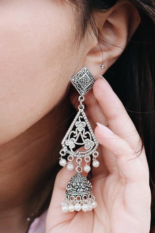 Diamond Stud Floral Jhumkay