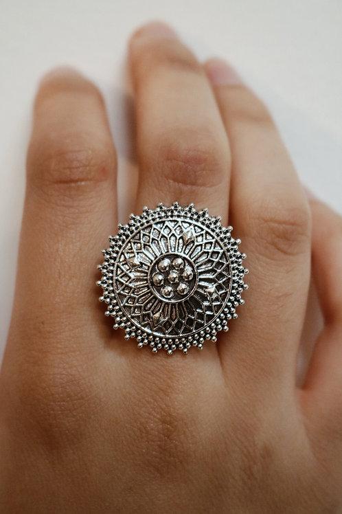 Oxidised Mandala Style Rings