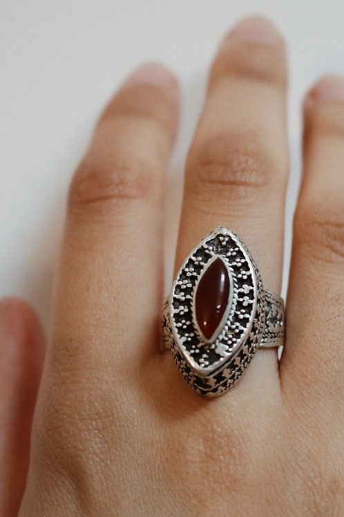 Embossed Stone Ring