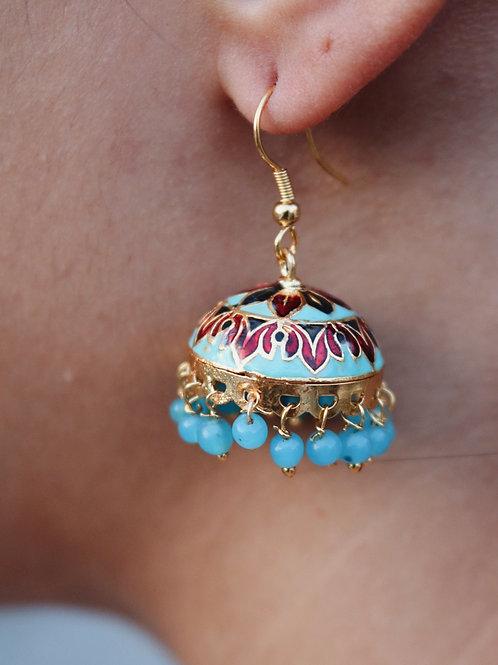 Assorted Blue Meenakari Earrings